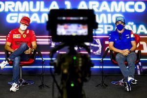 Carlos Sainz Jr., Ferrari and Fernando Alonso, Alpine F1 in the Press Conference