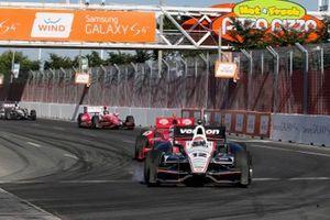 Will Power, Team Penske Chevrolet, Dario Franchitti, Chip Ganassi Racing Honda