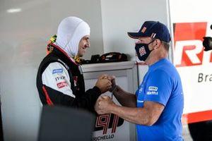 Dudu Barrichello conversa com pai, Rubens