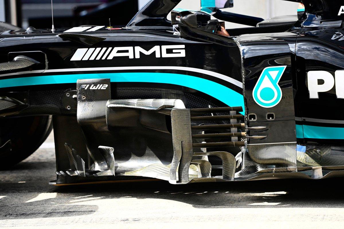 Detalle técnico del Mercedes W12