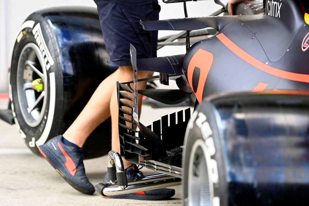 Detalle lateral del Red Bull Racing RB16B