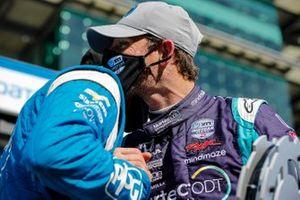 Romain Grosjean, Dale Coyne Racing with RWR Honda wins the NTT Pole Award, Scott McLaughlin, Team Penske Chevrolet