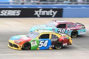 Kyle Busch, Joe Gibbs Racing, Toyota Supra M&M's, Jesse Little, B.J. McLeod Motorsports, Chevrolet Camaro Shriners Hospitals 4 Children