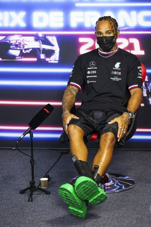 Lewis Hamilton, Mercedes in the Press Conference
