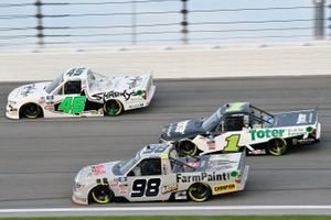 Christian Eckes, ThorSport Racing, Toyota Tundra and Hailie Deegan, Team DGR, Ford F-150 Toter/Engine Ice