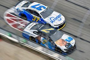 Corey LaJoie, Spire Motorsports, Chevrolet Camaro The Boss Baby: Family Business and Ryan Preece, JTG Daugherty Racing, Chevrolet Camaro Kroger/Scott Brand