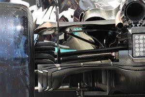 Mercedes W12 diffuser detail