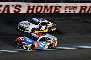 Kyle Busch, Joe Gibbs Racing, Toyota Camry M&M's Red, White & Blue, James Davison, Rick Ware Racing, Chevrolet Camaro Navy Military Salutes