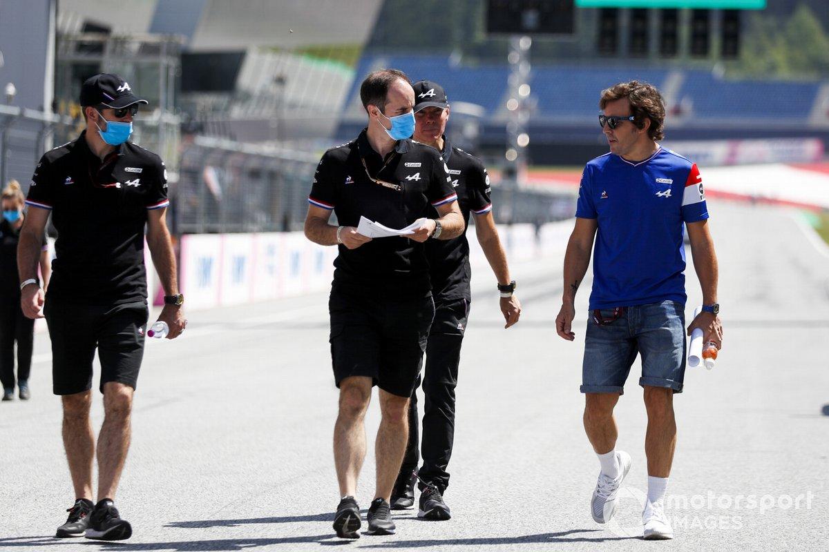 Fernando Alonso, Alpine F1, recorre la pista de Austria
