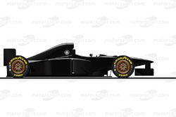 La Ferrari F310B version carbone pilotée par Michael Schumacher en 1997<br/> Reproduction interdite,