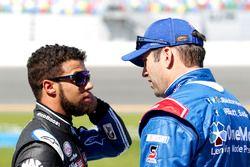 Darrell Wallace Jr., Roush Fenway Racing Ford and Elliott Sadler, JR Motorsports Chevrolet