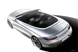 Dessin de la Mercedes Classe C Cabriolet