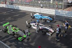 Le vainqueur Will Palmer, R-ace GP, le deuxième Sacha Fenestraz, Josef Kaufmann Racing, le troisième Max Defourny, R-ace GP