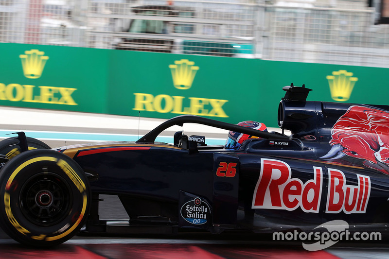 Daniil Kvyat, Scuderia Toro Rosso STR11 con il dispositivo Halo