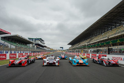 La photo de groupe des Ligier LMP2