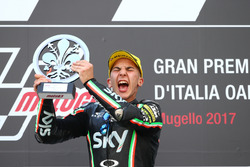 Podium: Race winner Andrea Migno, Sky Racing Team VR46