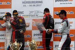 Podium: #3 Aust Motorsport, Audi R8 LMS: Markus Pommer, Kelvin van der Linde
