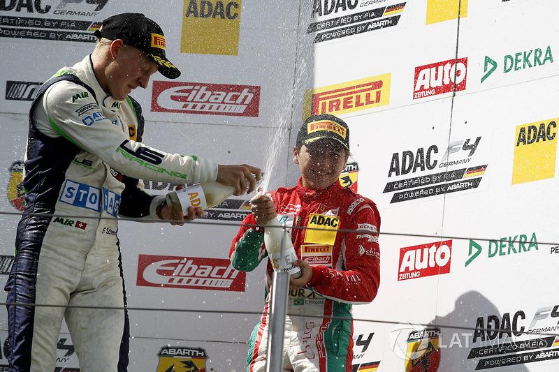 Podium: 3. Fabio Scherer, US Racing, bester Rookie Enzo Fittipaldi, Prema Powerteam