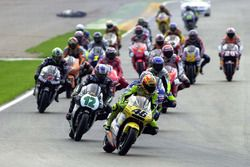 Valentino Rossi, Honda leads at the start of the race