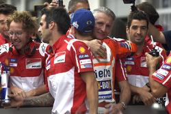 Jorge Lorenzo, Ducati Team, Paolo Ciabatti, directeur sportif de Ducati, après les qualifications