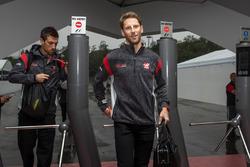 Romain Grosjean, Haas F1 at the Paddock gates