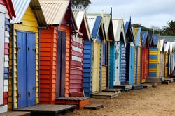 Beach huts on Brighton Beach