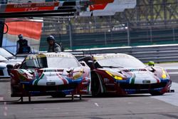 #51 AF Corse Ferrari 488 GTE: James Calado, Alessandro Pier Guidi and #71 AF Corse Ferrari 488 GTE: