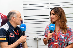 Franz Tost, Scuderia Toro Rosso Team Principal avec Noemi de Miguel, Movistar TV