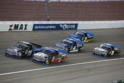 Ryan Truex, Hattori Racing Enterprises Toyota, Ben Rhodes, ThorSport Racing Toyota, Christopher Bell