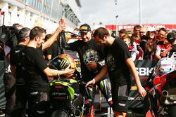 Jonathan Rea, Kawasaki Racing, vainqueur de la course et Champion du monde 2017