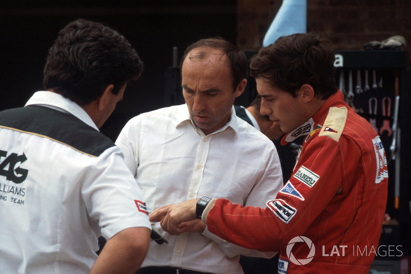 Ayrton Senna e Frank Williams
