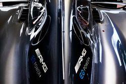 De motorkap op de Mercedes AMG F1 W08
