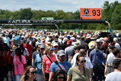 Yarış öncesi grid atmosfer