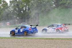 Stefano Comini, Subaru STI TCR supera Alessandro Thellung, BF Racing, Seat Leon-TCR
