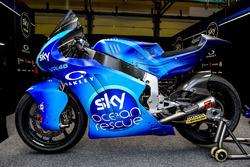 La moto de Francesco Bagnaia, Sky Racing Team VR46 avec la livrée