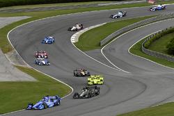 Scott Dixon, Chip Ganassi Racing Honda, Josef Newgarden, Team Penske Chevrolet, Simon Pagenaud, Team Penske Chevrolet, James Hinchcliffe, Schmidt Peterson Motorsports Honda