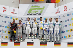 Podium : les vainqueurs #5 Phoenix Racing, Audi R8 LMS: Mike Rockenfeller, Nicolay Møller Madsen, Dennis Busch, les deuxièmes, #9 Audi Sport Team WRT, Audi R8 LMS: Nico Müller, Frederic Vervisch, les troisièmes, #44 Team Falken Motorsport, Porsche 991 GT3-R: Jörg Bergmeister, Dirk Werner, Laurens Vanthoor