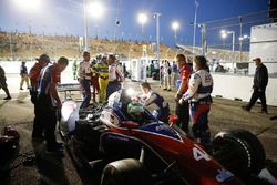 Conor Daly, A.J. Foyt Enterprises Chevrolet behind the wall