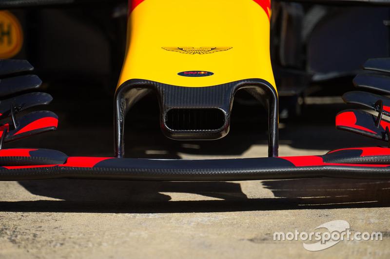 Détail de la prise d'air du nez de la Red Bull Racing RB13