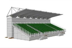 New covered grandstand