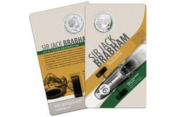 Sir Jack Brabham Royal Australian Mint coloured uncirculated coin