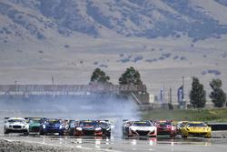#31 TR3 Racing Ferrari 488 GT3: Daniel Mancinelli, Niccolò Schiro, #43 RealTime Racing Acura NSX GT3