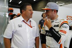 Zak Brown, Executive Director, McLaren Technology Group, Stoffel Vandoorne, McLaren