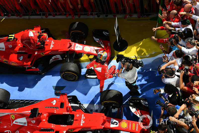 Yarış galibi Sebastian Vettel, Ferrari SF70-H