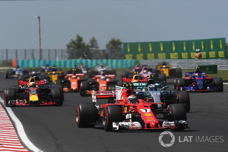 Кімі Райкконен, Ferrari SF70-H, на старті