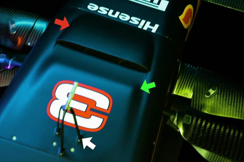 Détails du S-duct de la Red Bull Racing RB13