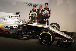 Sergio Pérez, Sahara Force India F1 con el dueño del equipo Dr. Vijay Mallya, Sahara Force India F1