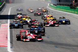 Charles Leclerc, PREMA Powerteam leads Nyck De Vries