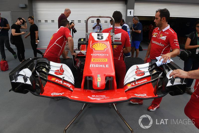 Ferrari SF70H, naso e ala anteriore