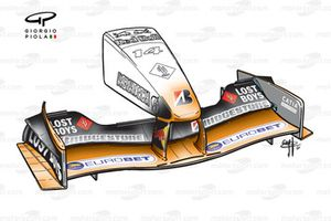 Arrows A22 2001 front wing and nose